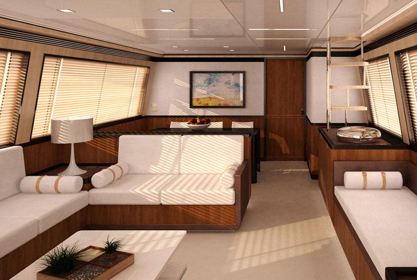 Luxusyachten innen  GHI Yachts Express X80 Luxusyacht kaufen vom Hersteller / Werft ...