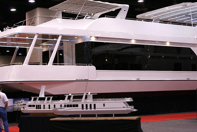 neues hausboot kaufen vom hersteller werft luxus hausboote usa amerika amerikanische. Black Bedroom Furniture Sets. Home Design Ideas