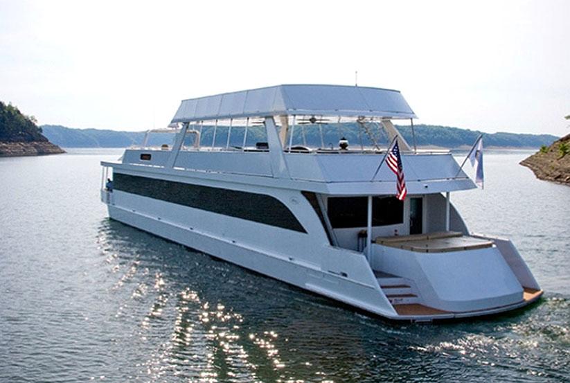hausboot kaufen vom hersteller werft luxus katamaran hausboote usa amerika amerikanische. Black Bedroom Furniture Sets. Home Design Ideas