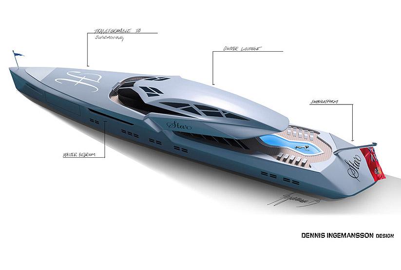 Futuristische luxusyachten  3D Entwurf Star – Megayacht, Luxusyacht Design, Superyachten ...