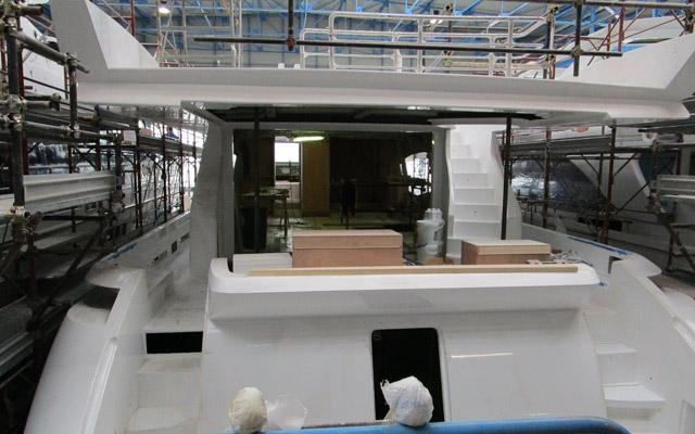 Yacht Bau Produktion