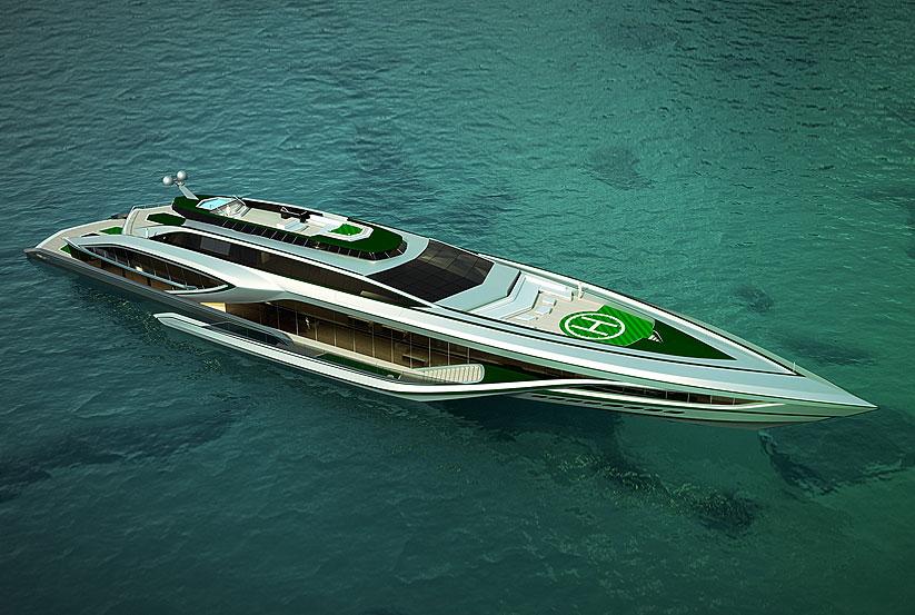 Yachtdesign Fairwei Megayacht Luxusyacht 3d Design